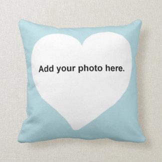 De vorm van het hart voegt uw fotoHoofdkussen toe Sierkussen