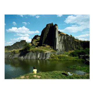 De vorming van de rots van het basalt, de Muur van Briefkaart