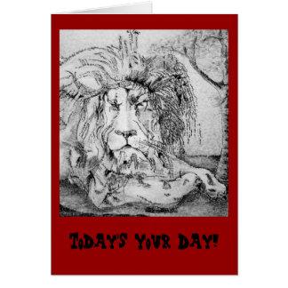 De vorstelijke Verjaardag van de Leeuw Kaart