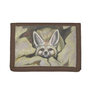 De vos van Fennec Drievoud Portemonnee