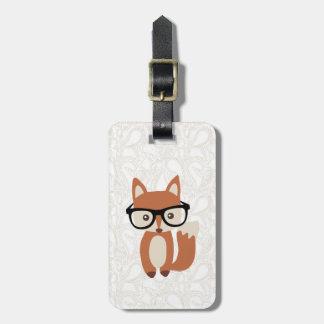 De Vos w/Glasses van het Baby van Hipster Kofferlabels