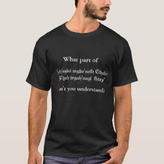De Vraag van Cthulhu T Shirt