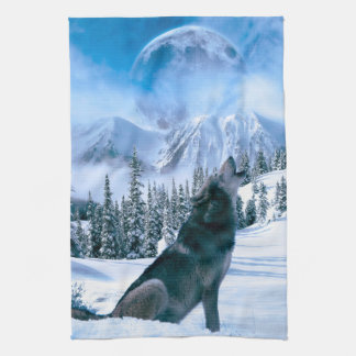 De Vraag van de wolf Keuken Handdoek