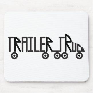 De Vrachtwagen van de aanhangwagen Muismatten