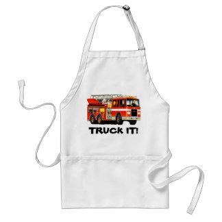 De Vrachtwagen van de brand Standaard Schort