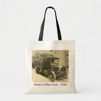 De Vrachtwagen van de Koffie van Parke - 1920 Draagtas