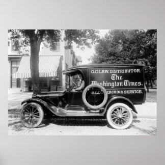 de Vrachtwagen van het jaren '20Comité Poster