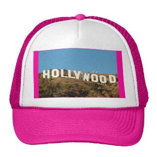 de vrachtwagenchauffeurpet van meisjes roze hollyw trucker petten