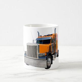 De vrachtwagenchauffeurs overvallen koffiemok
