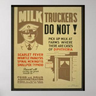 De Vrachtwagenchauffeurs van de melk Poster