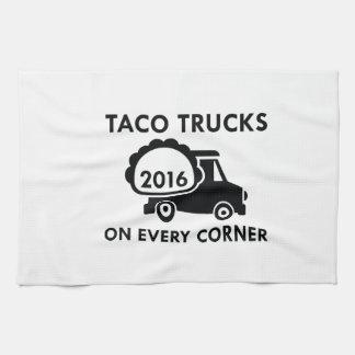 De Vrachtwagens van de taco op Elke Hoek Keukenhanddoek