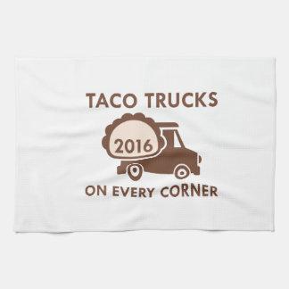 De Vrachtwagens van de taco op Elke Hoek Keukenhanddoeken