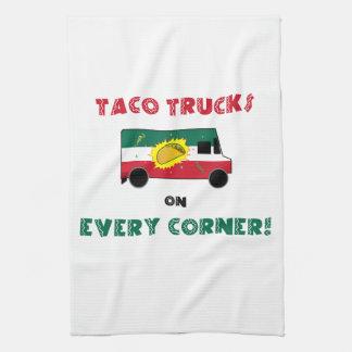 De Vrachtwagens van de taco op Elke Hoek Theedoek