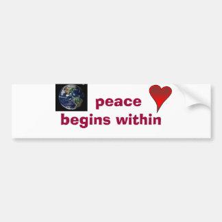 de vrede begint binnen bumpersticker