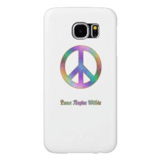 De vrede begint binnen het Psychedelische Teken Samsung Galaxy S6 Hoesje