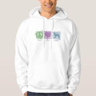 De Vrede, de Liefde, en Tollers van de pastelkleur Sweatshirt Met Capuchon