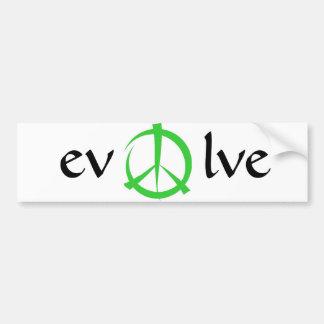 de vrede, evolueert bumpersticker