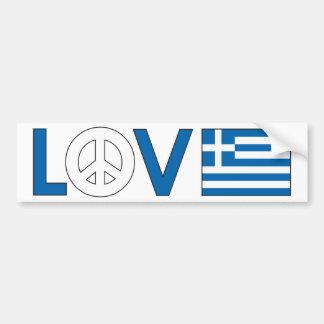 De Vrede Griekenland van de liefde Bumpersticker