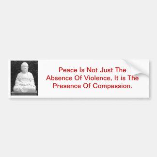 De vrede is niet alleen het Ontbreken van Geweld… Bumpersticker