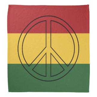 De Vrede van de Kleuren van Rasta Bandana