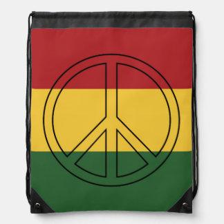 De Vrede van de Kleuren van Rasta Trekkoord Rugzakje