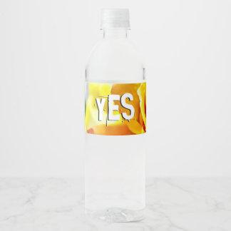 De Vrede van de Liefde van de god Waterfles Etiket