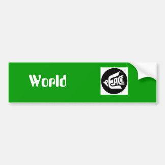 De Vrede van de wereld Bumpersticker