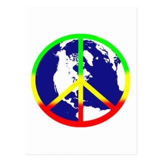 De Vrede van de Wereld van Rasta Briefkaart