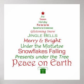 De Vrede van Kerstmis op de Druk van de Kunst van Poster