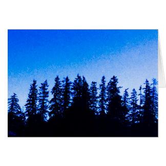 De vreedzame Bomen van het Noordwesten in Blauwe Kaart