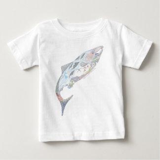 De vreedzame Habitat van de Zalm Baby T Shirts