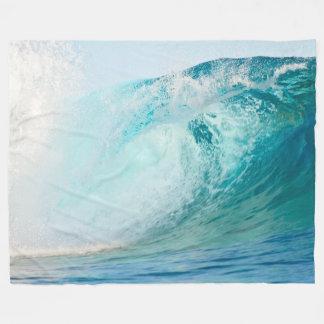 De vreedzame oceaan blauwe deken van de golf