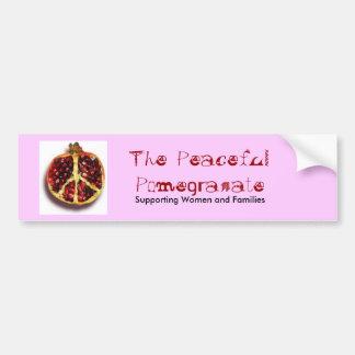 De vreedzame Sticker van de Bumper van de Granaata Bumpersticker