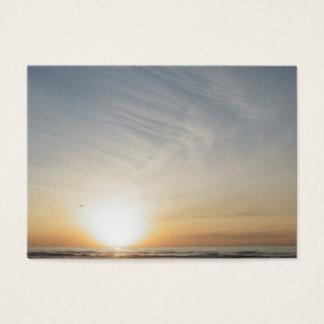 De vreedzame Zonsopgang van de Zonsondergang van Visitekaartjes