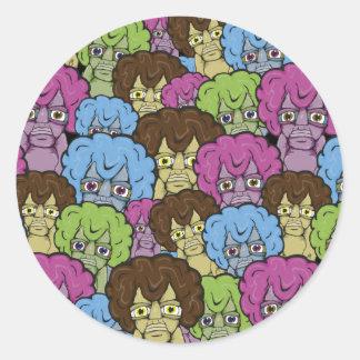 De vreemde Sticker van Mensen