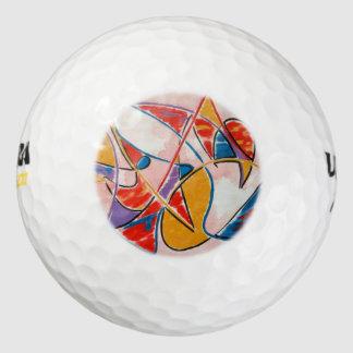De vreemde vis-Abstracte Geschilderde Hand van de Golfballen