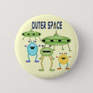De Vreemdelingen van de kosmische ruimte Ronde Button 5,7 Cm
