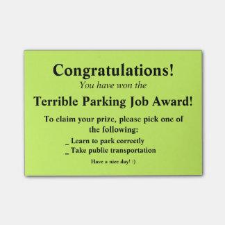 De vreselijke Post-it van het Parkeren Post-it® Notes