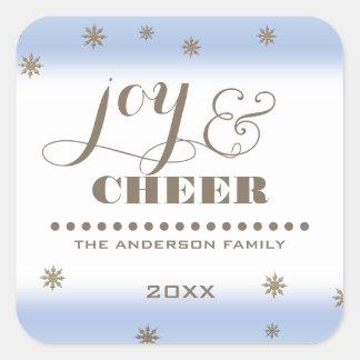 De vreugde & juicht toe. De Stickers van Kerstmis