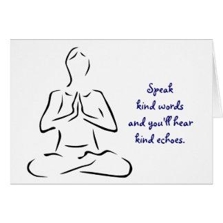 De vriendelijke Yoga van Woorden stelt Kaart