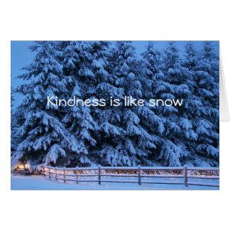 De vriendelijkheid is als sneeuw kaart