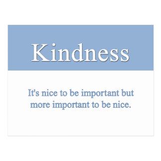 De vriendelijkheid is de belangrijkste kwaliteit briefkaart