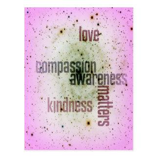 De vriendelijkheid is het Universele Briefkaart