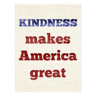 De vriendelijkheid maakt Amerika Groot Briefkaart