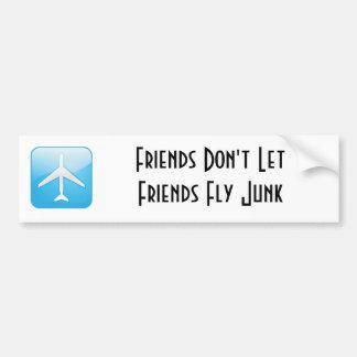 De vrienden laten de geen Troep van de Vlieg van V Bumpersticker