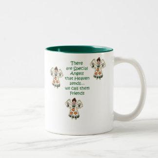 De Vrienden van de engel Tweekleurige Koffiemok