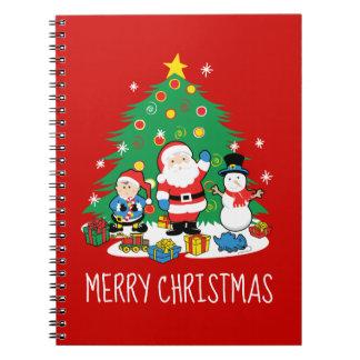 De vrienden van de kerstman ringband notitieboek