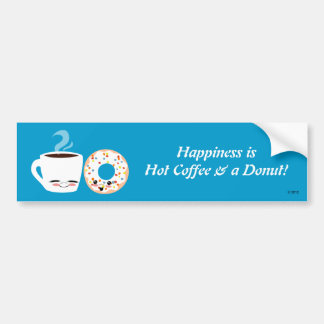 De Vrienden van de koffie en van de Doughnut Bumpersticker