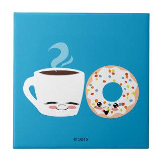 De Vrienden van de koffie en van de Doughnut Tegeltje