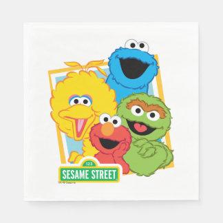 De Vrienden van het Sesame Street Wegwerp Servetten